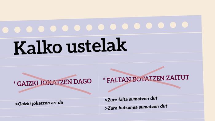 *Faltan botatzen zaitut > Zure falta sumatzen dut