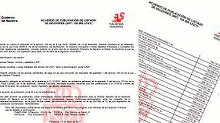 Eskualdeko enpresek 3.727.113 euro zor dizkiote Nafarroako Ogasunari