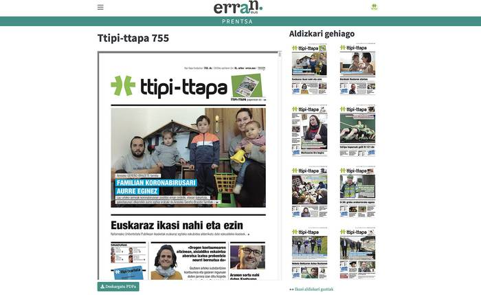 TTIPI-TTAPA aldizkariaren 755. zenbakia zuen pantailetan irakur dezakezue dagoeneko