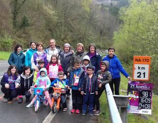 Beintza-Labaiengo eskolak ere egin zuen Korrikako kilometroa