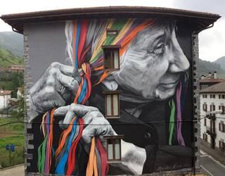 Munduko ehun mural onenen zerrendan sartu dute Leitzako Atekabeltzekoa