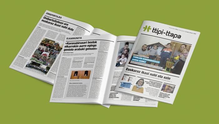 TTIPI-TTAPAk ez du apirileko lehenbiziko aldizkaria paperean inprimatuko