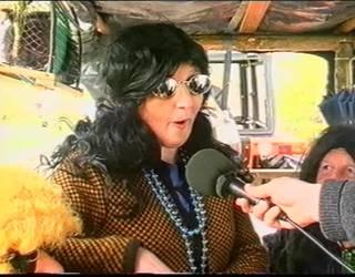 Inauterietako karrozen desfilea Etxalarren 2001ean