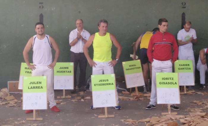 Euskal Herriko hirugarren mailako aizkora txapelketaren finala jokatuko dute azaroaren 18an Larrabetzun