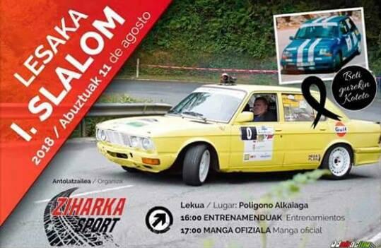 Lesakako I. Slalom auto lasterketa eginen dute abuztuaren 11n Alkaiagako industrialdean