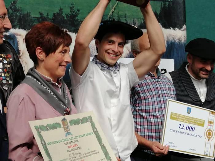 Aurten ere Lekarozko Kortaria gasnategiak irabazi du Ordiziako gazta lehiaketa