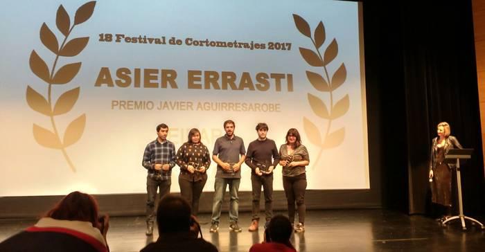 Asier Errasti film laburren jaialdian euskarazko pelikularik onenaren saria jaso du Berako Katubik