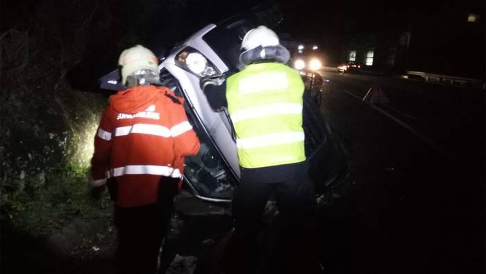 Zaurituak Bera eta Lesaka artean izandako auto istripuan