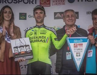 Beñat Txoperena txirrindulari igantziarrak saiatuenaren saria lortu du Okzitaniako Errutako etapa batean