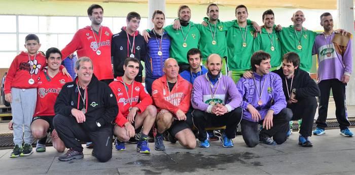 Euskadiko 4x4 sokatira txapelketa irabazi dute Beti Gazteko mutilek
