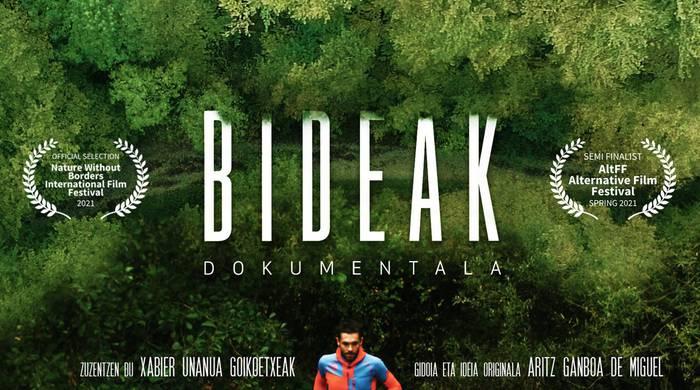 'Bideak' dokumentalaren emanaldia Donamarian