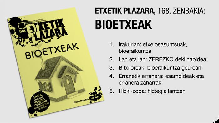 'Etxetik Plazara' aldizkaria Euskararen Txokoan