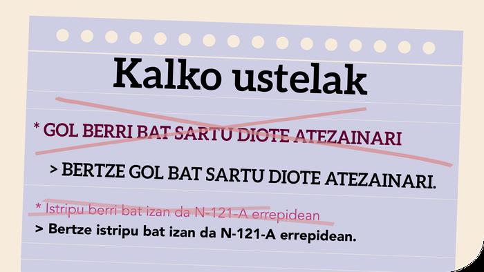 * Gol berri bat sartu diote atezainari  ala Bertze gol bat sartu diote atezainari?