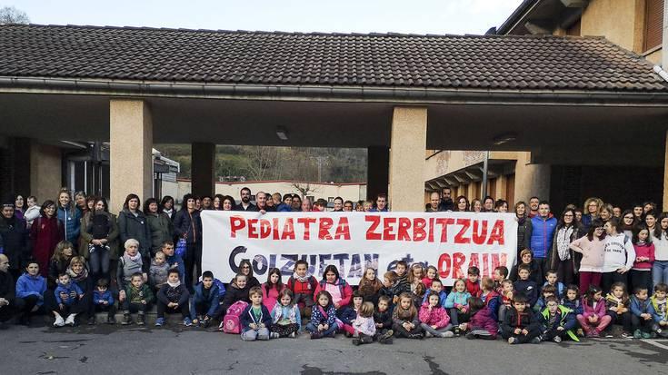 Goizueta eta Aranoko familiek pediatria zerbitzua eskatu dute berriz ere