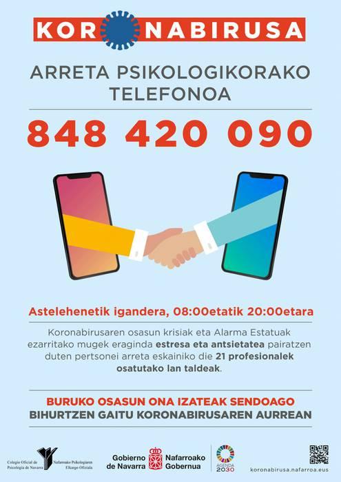 Laguntza psikologikorako telefonoa: 848 420 090