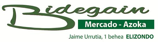 BIDEGAIN fruta-denda logotipoa