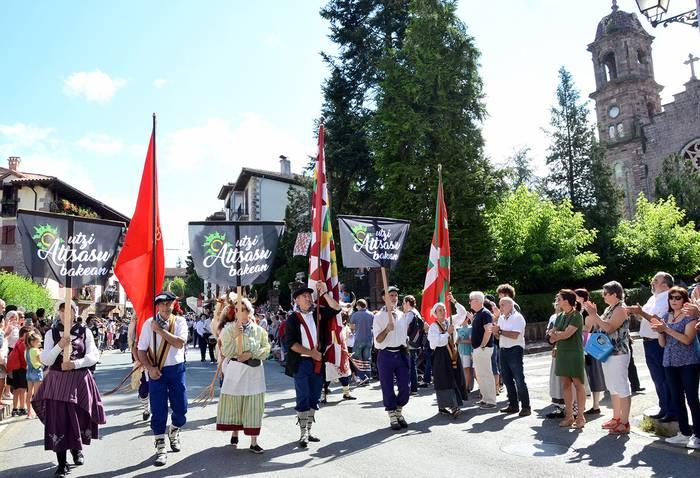 Zigako orgak eskuratu du Baztandarren Biltzarreko desfileko lehenengo saria
