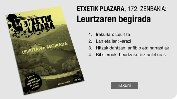172. Etxetik Plazara: Leurtzaren begirada