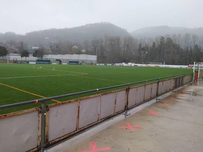 Bertan behera gelditu da Baztan eta Fontellas futbol taldeen arteko partida