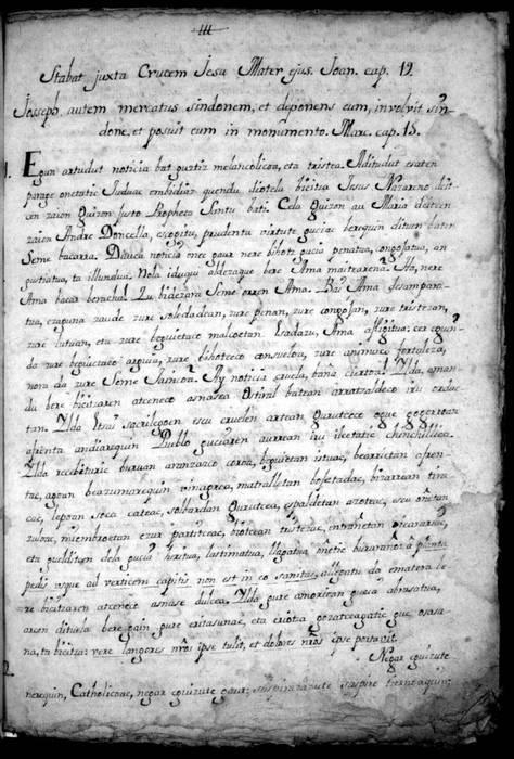 1753. urtean Goizuetan idatzitako sermoi bat aurkitu dute