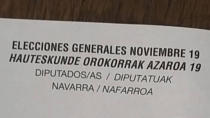 Espainiako hauteskundeetako boto paperekin gaizki-ulertua sortu da