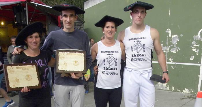 Fernando Etxegarai eta Maika Ariztegi berriz ere Euskal Herriko txapeldun koxkor biltzen