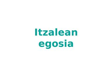 Itzalean egosi