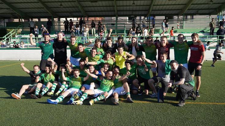 Lehen aldiz hirugarren mailara igo da Lesakako Beti Gazte futbol taldea