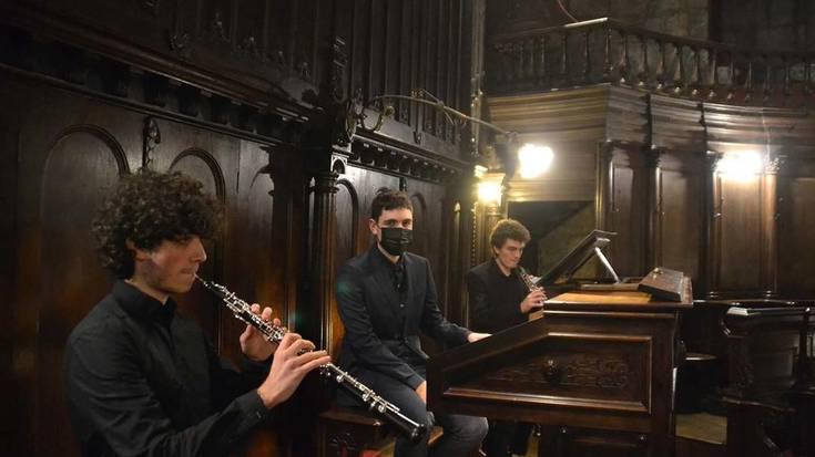 Organo eta oboe doinuez ospatu dituzte Berako organoaren 125 urteak